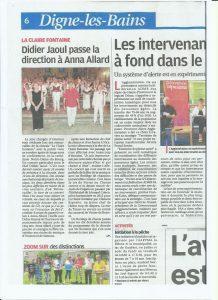 Didier Jaoul passe la baguette à Anna Allard